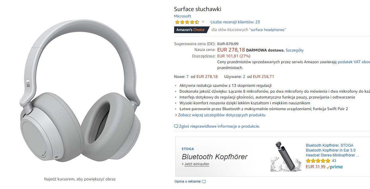 Surface Headphones na Amazonie