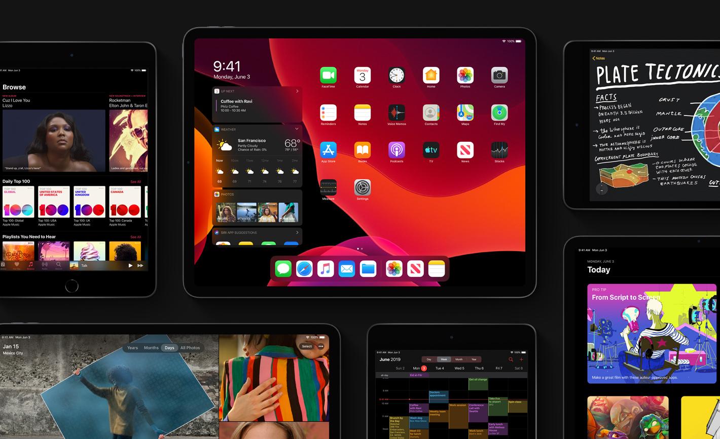 Tryb ciemny w iPadOS