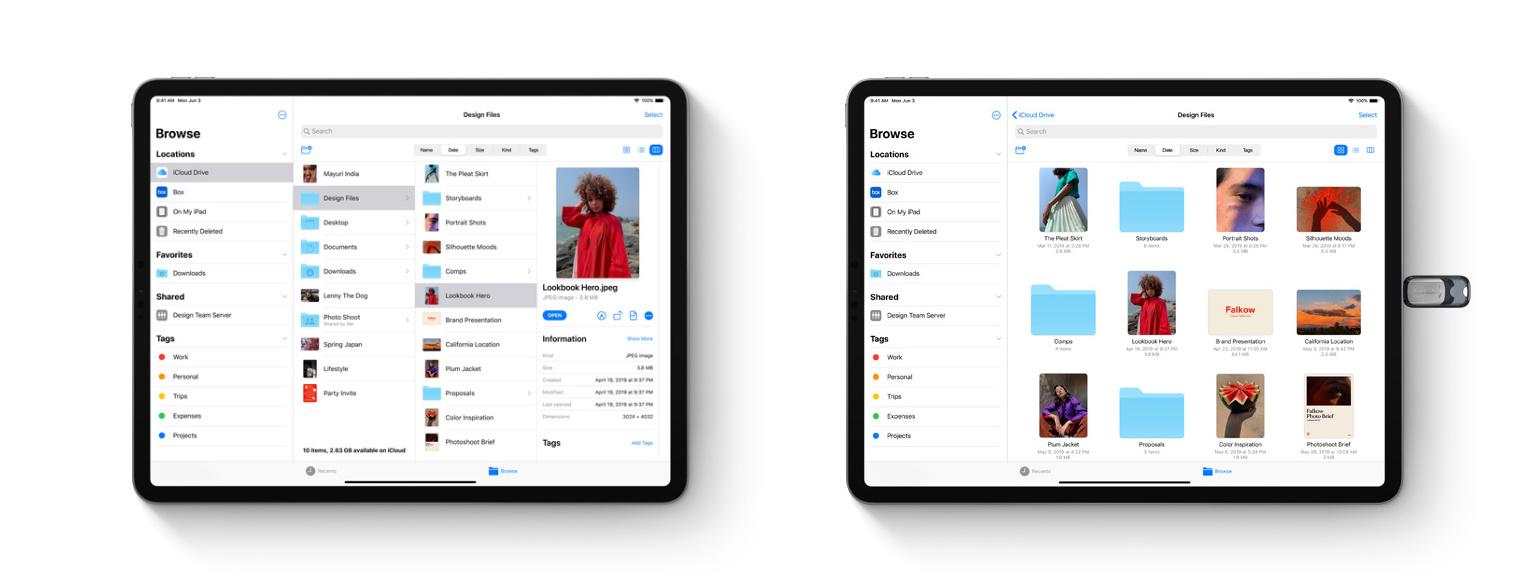Menedżer plików w iPadOS