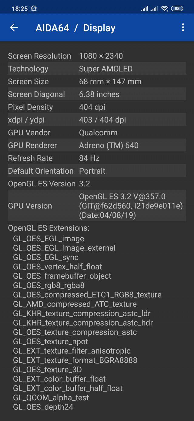 Ekran 84 Hz w Xiaomi Mi 9
