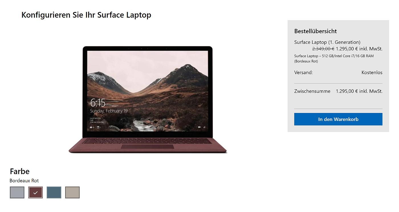 Microsoft Surface Laptop w niemieckim Microsoft Store
