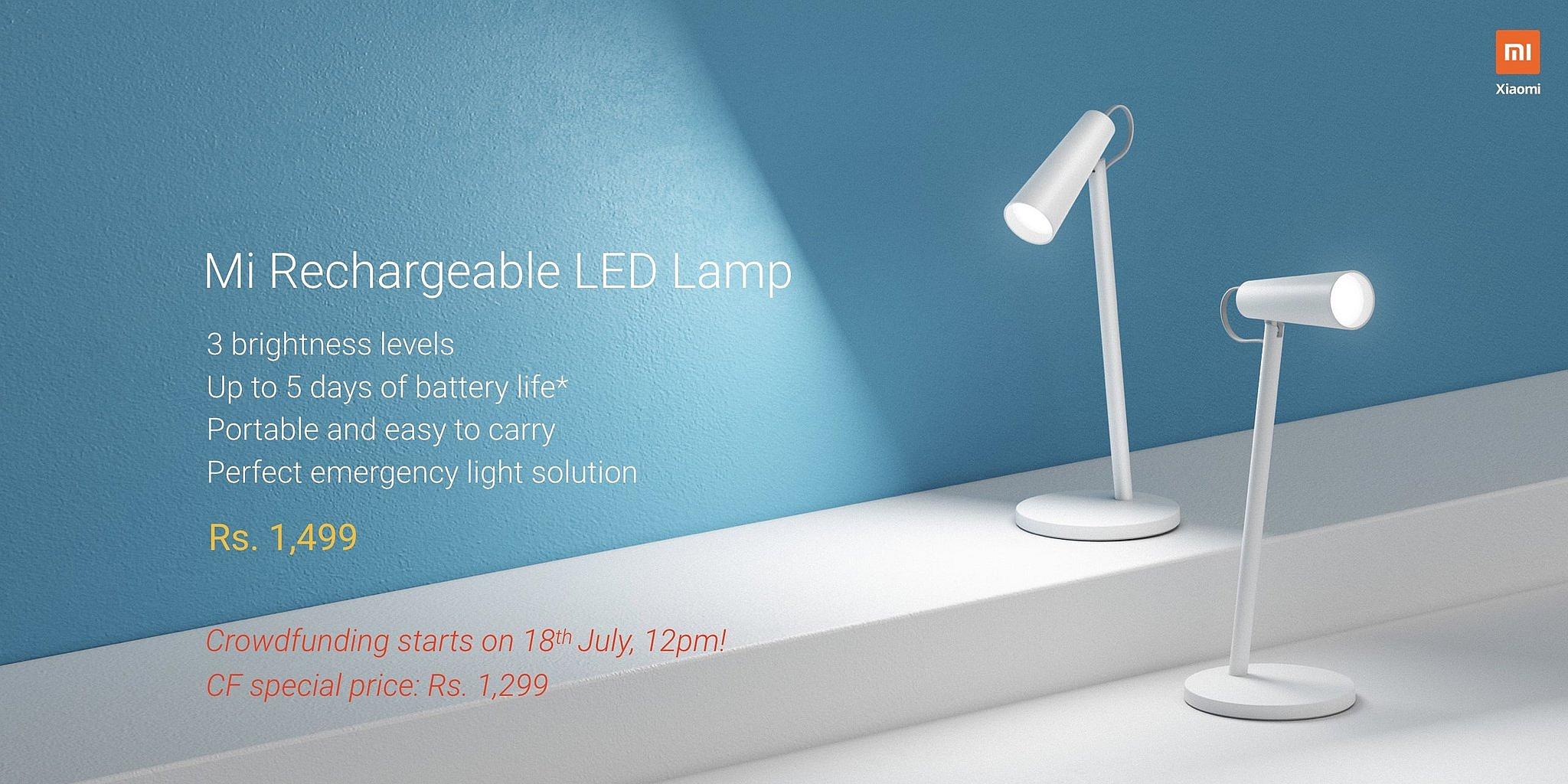 Bezprzewodowa lampka LED Xiaomi / fot. Mi