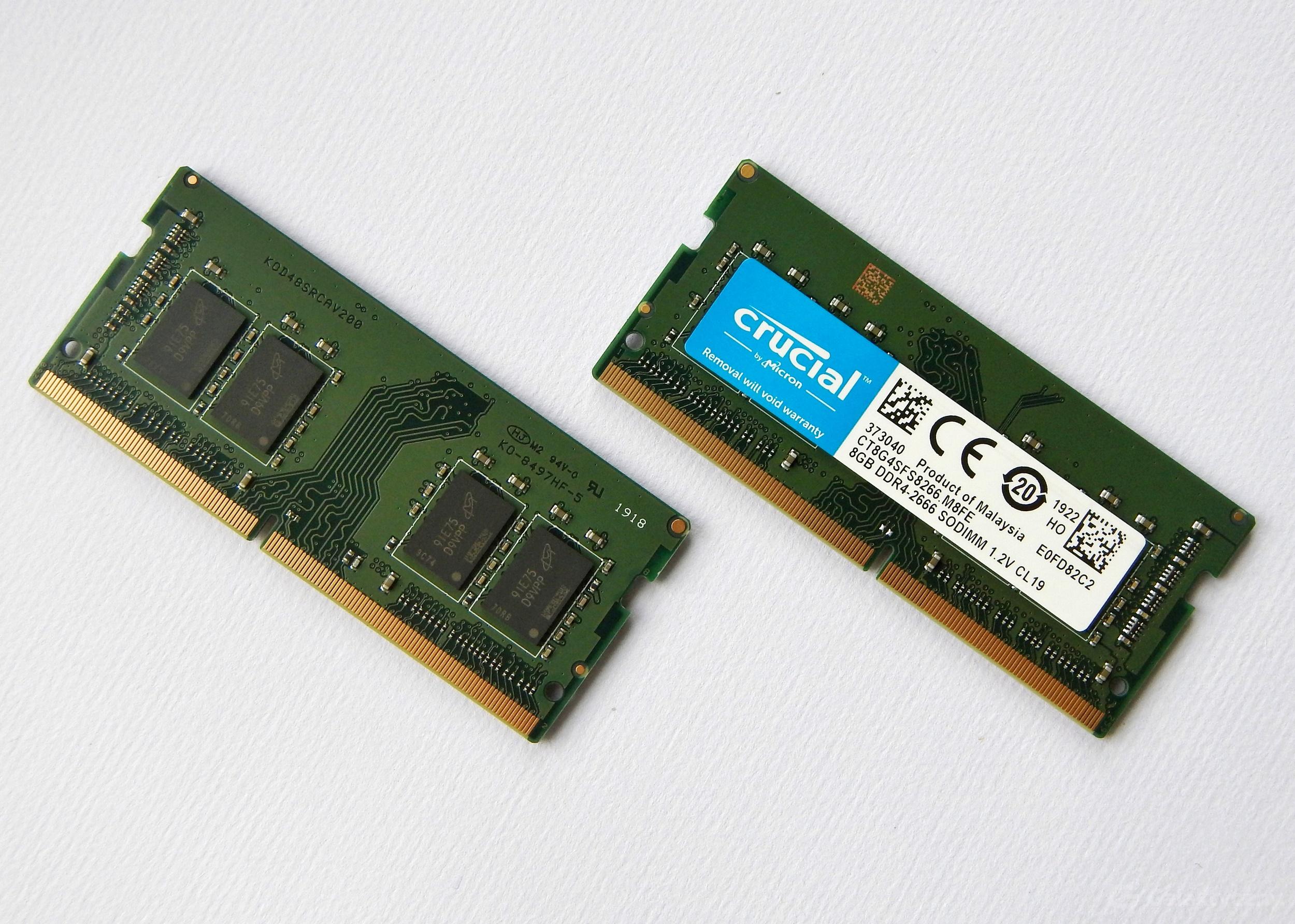 Crucial 8 GB DDR4-2666 SODIMM 1.2V CL19