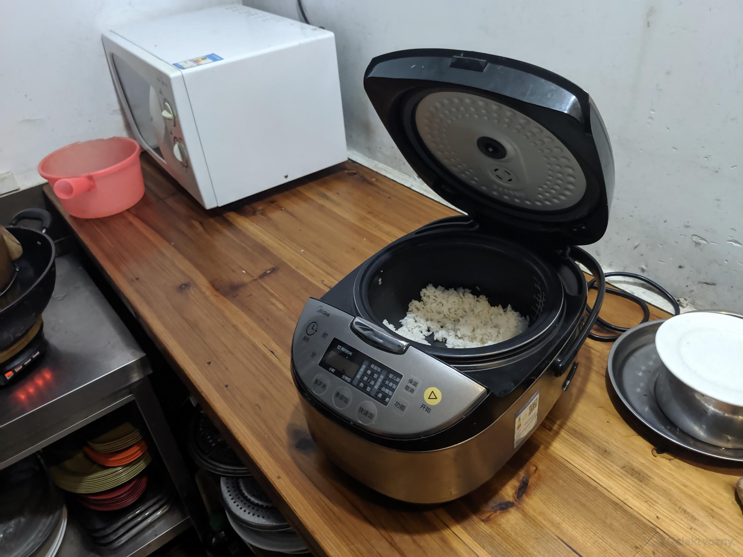 Ciekawostki z Chin - Maszyna do gotowania ryżu