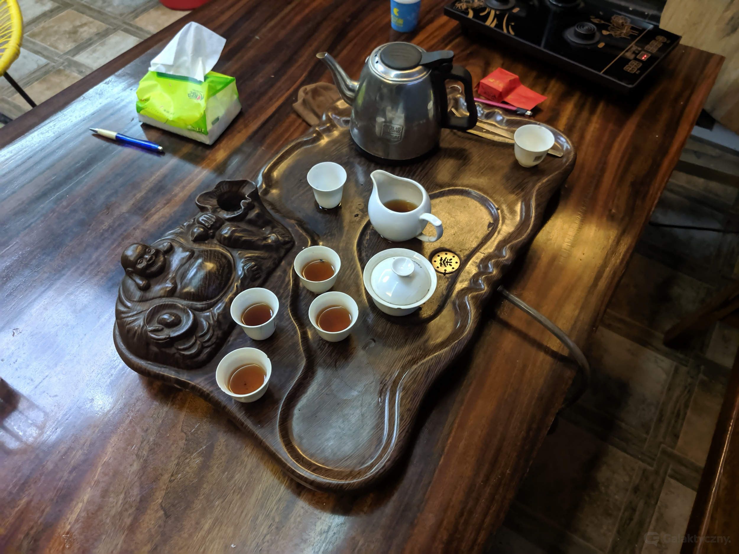Ciekawostki z Chin - Stół do herbaty