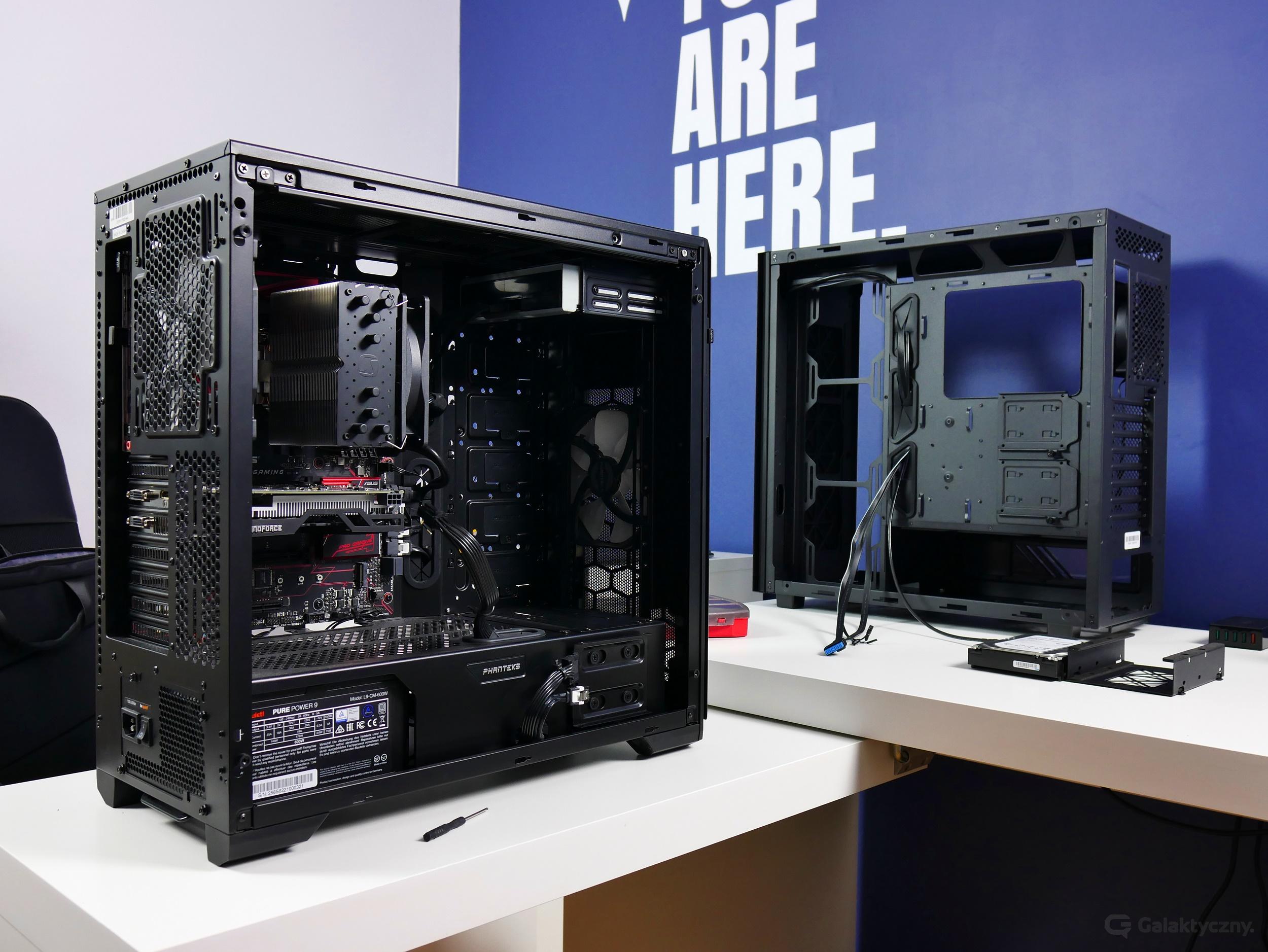 Phanteks Enthoo Pro M (po lewej), GamerStorm MACUBE 550 (po prawej)