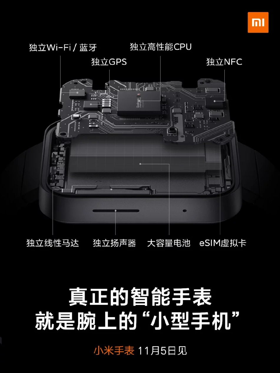 Smartwatch Xiaomi - specyfikacja