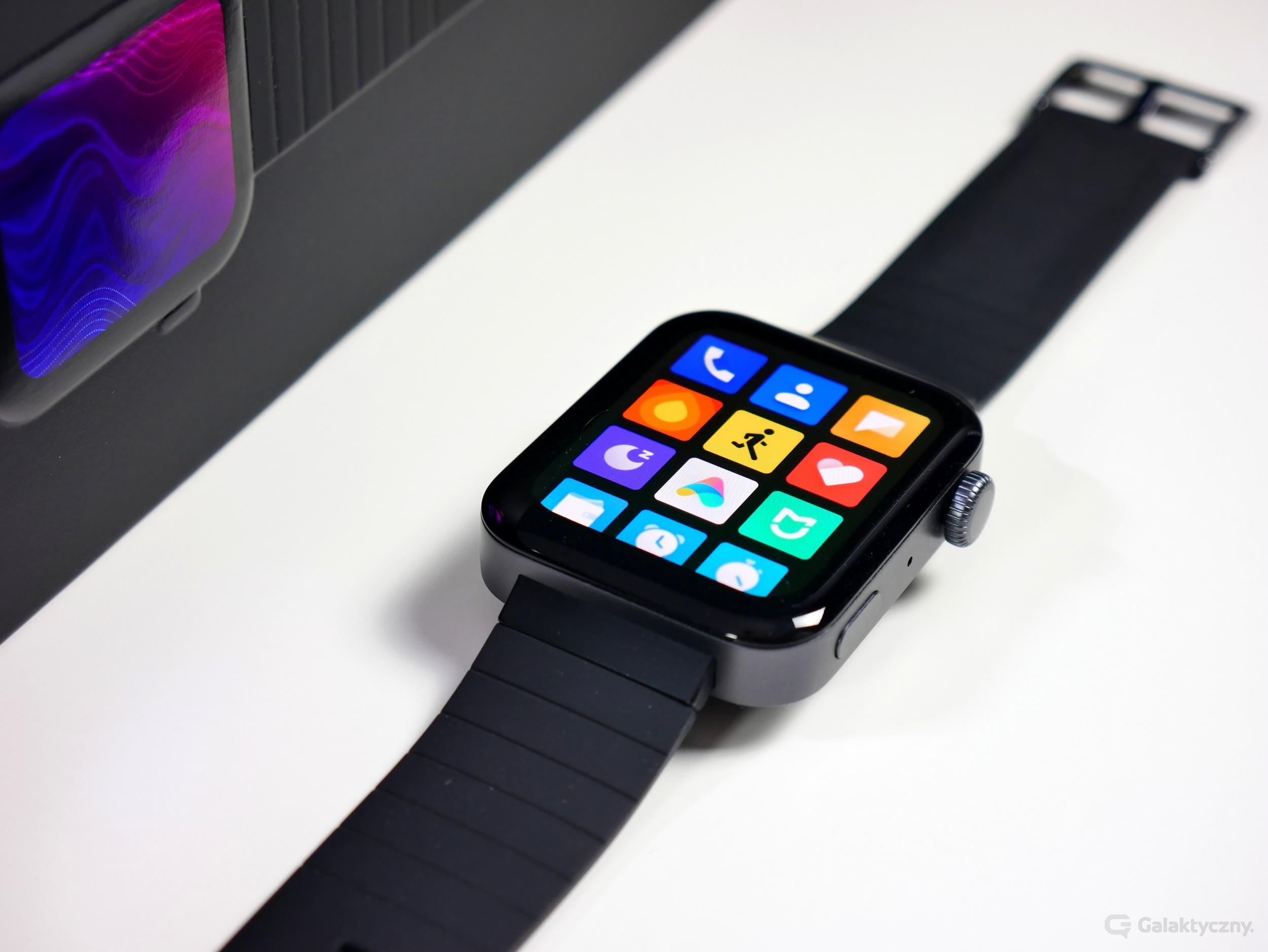 Xiaomi Mi Watch - menu aplikacji