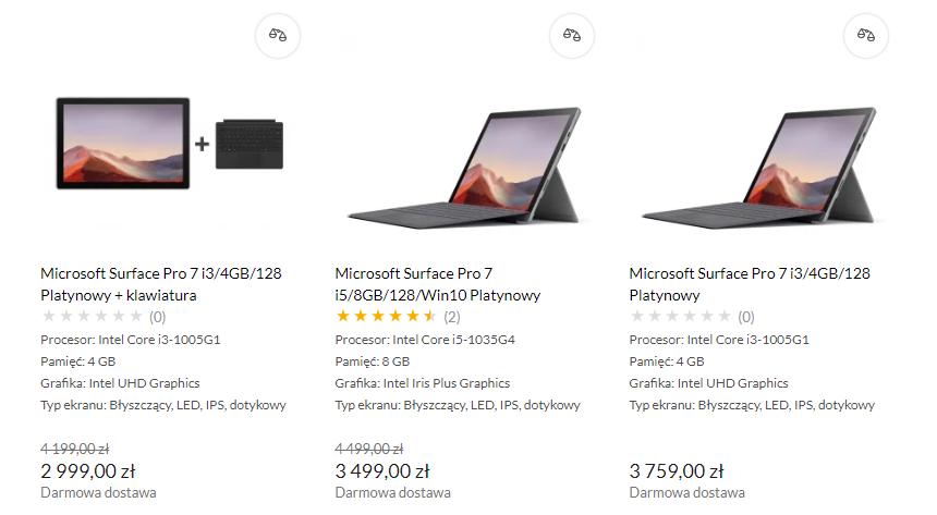 Promocja na Microsoft Surface Pro 7