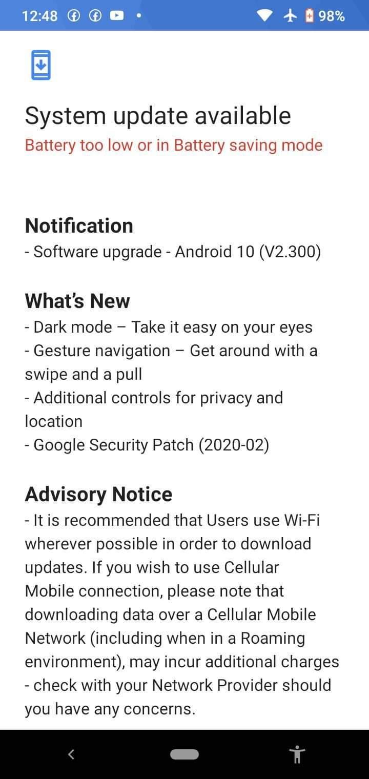 Android 10 dla Nokii 2.2