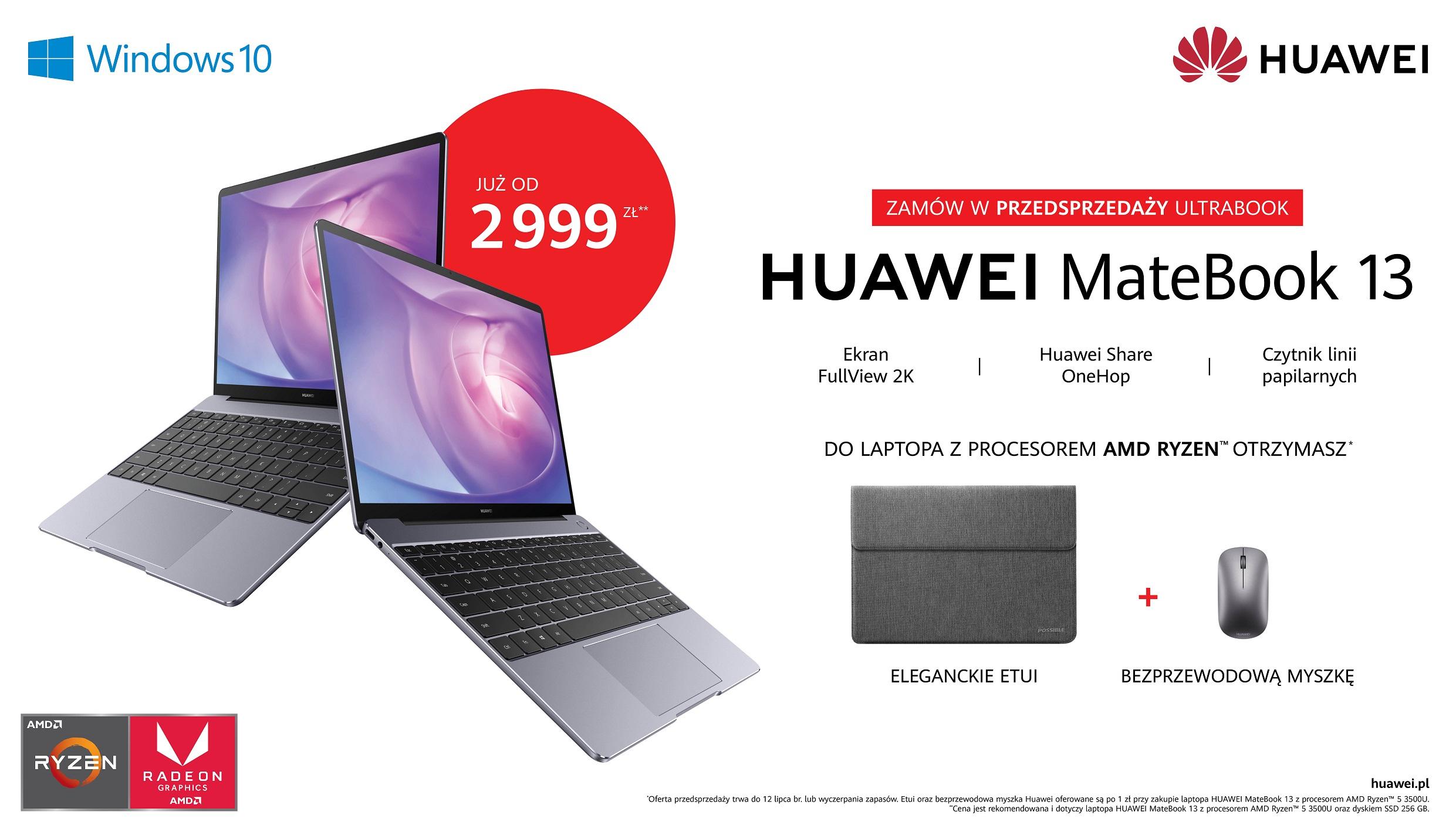 Przedsprzedaż Huawei MateBook 13 2020