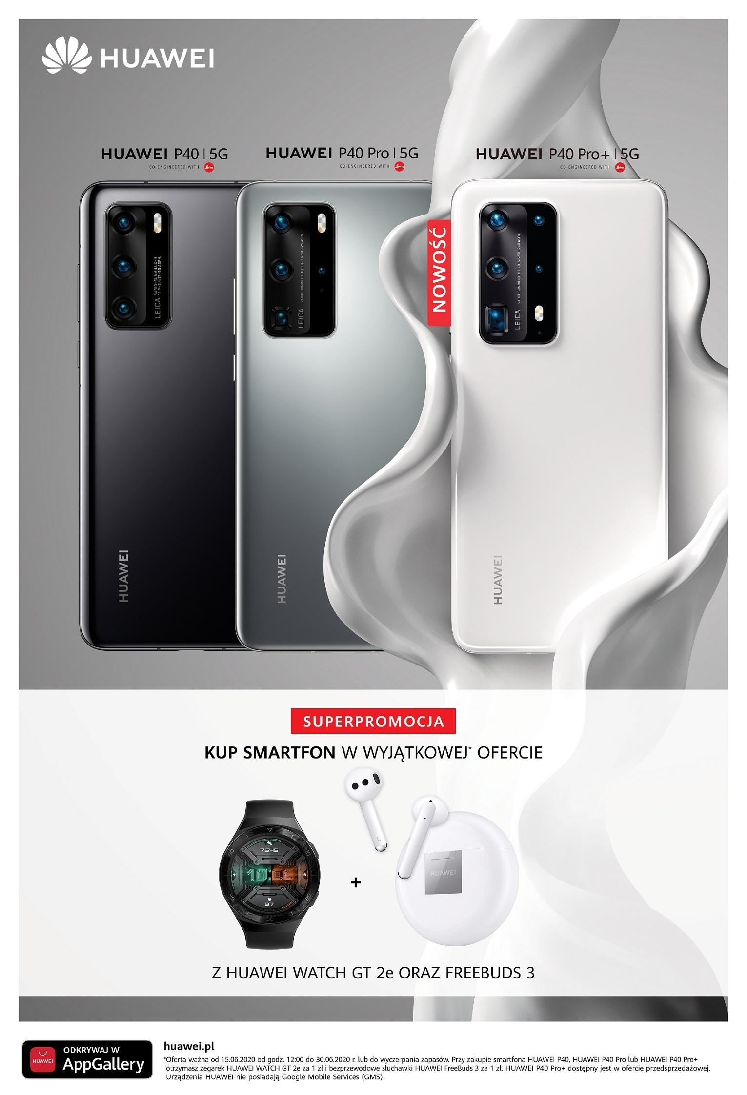Oferta na serię Huawei P40