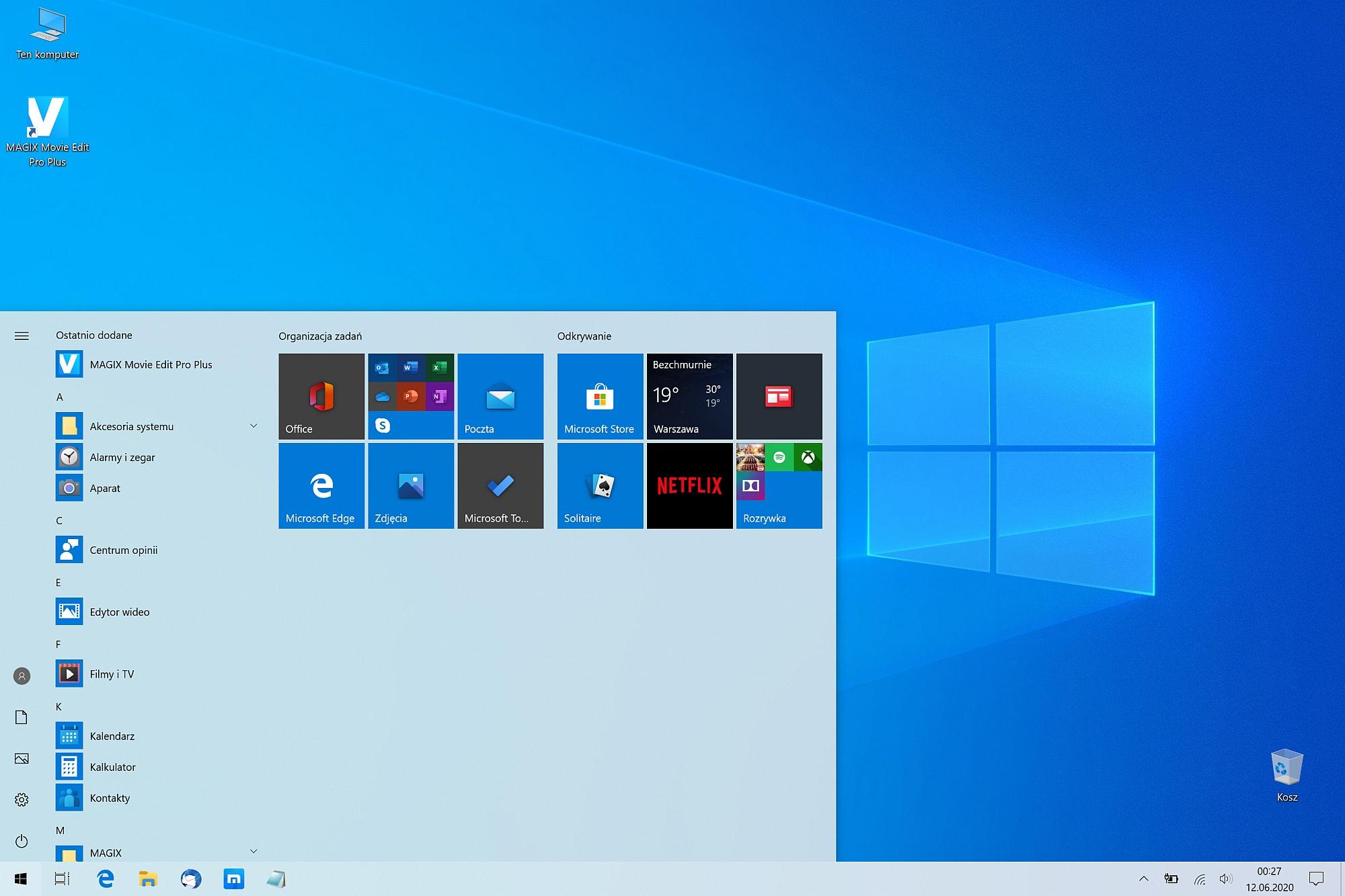 Windows 10 w Surface Pro 7
