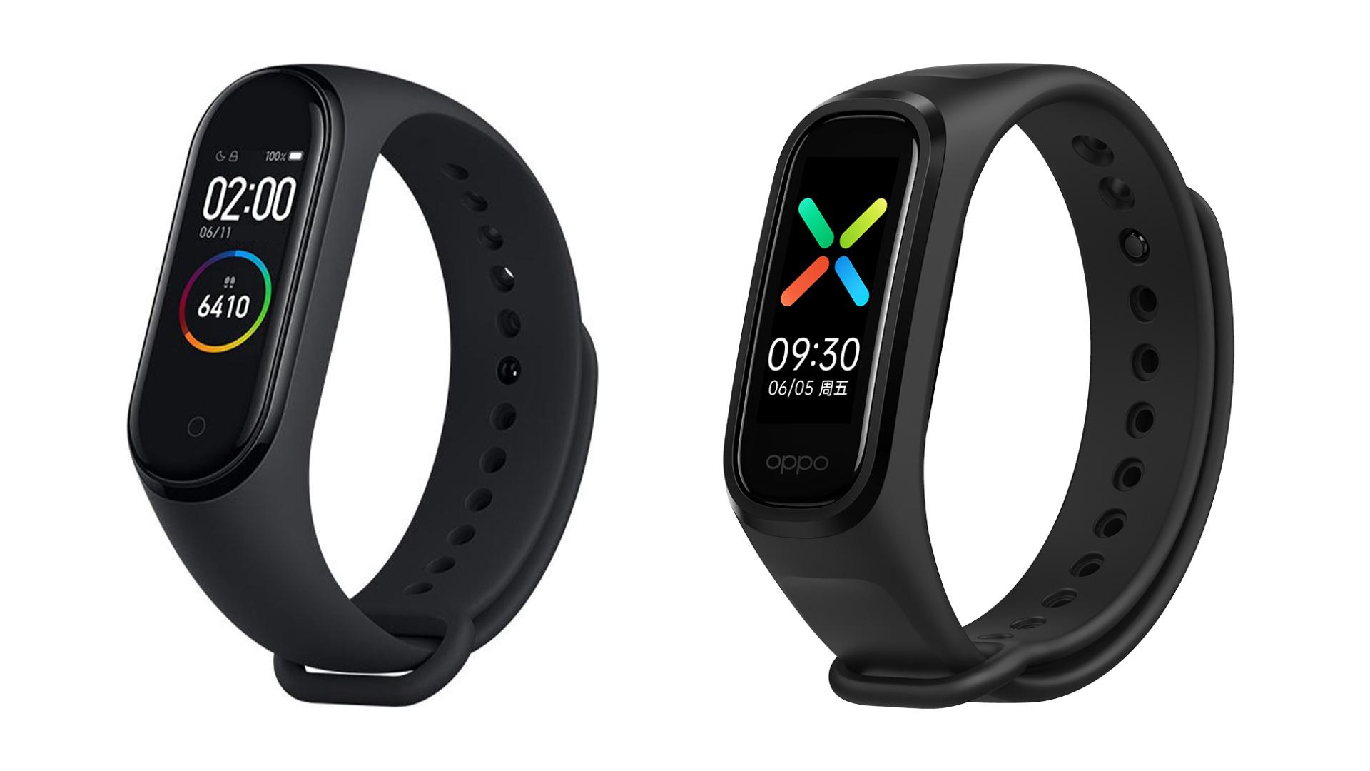 Xiaomi Mi Band 4 (po lewej), Oppo Band (po prawej)