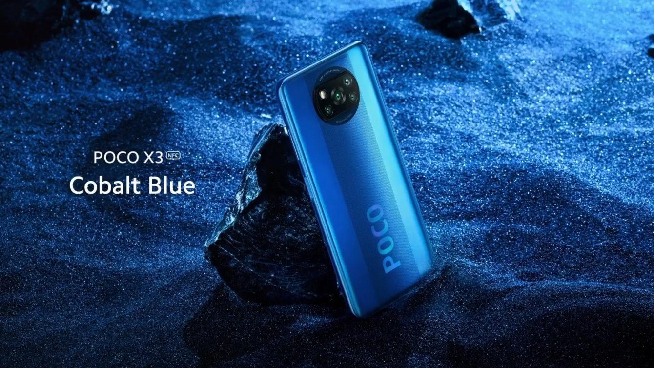 Poco X3 NFC w kolorze Cobalt Blue