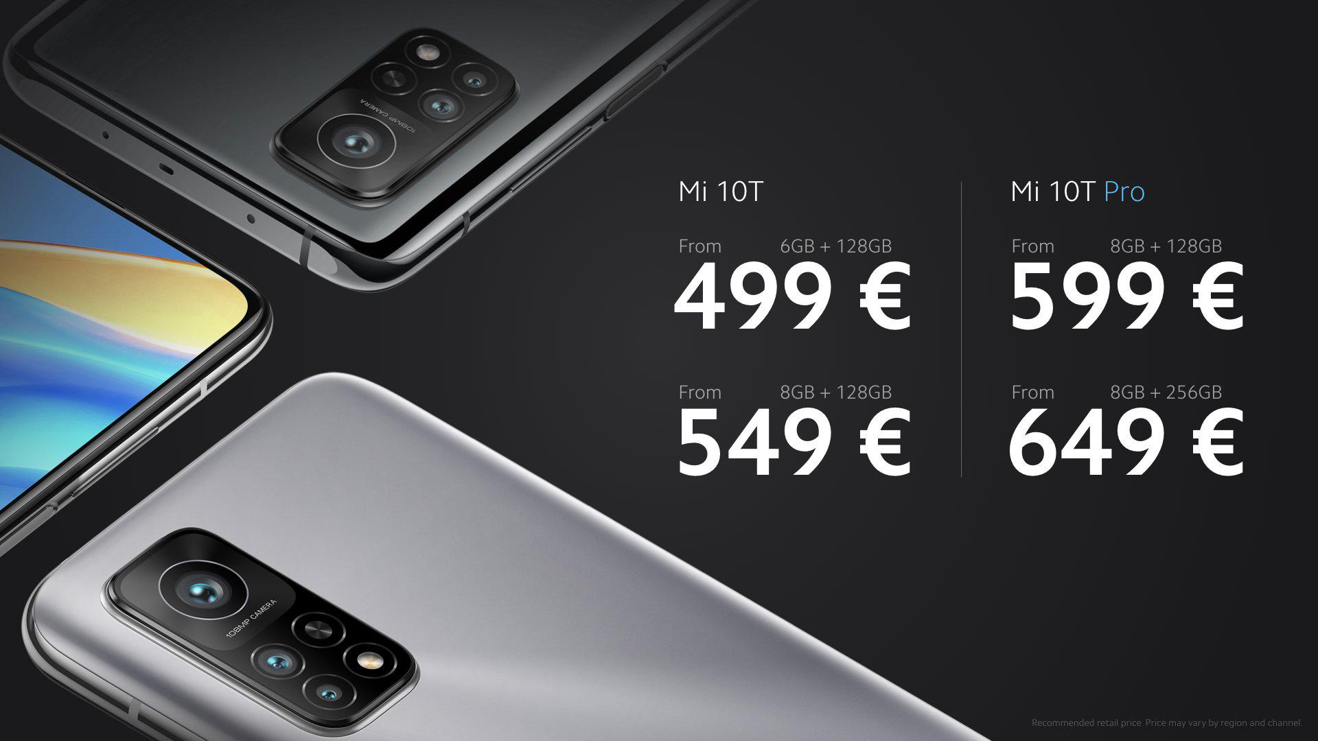 Ceny Xiaomi Mi 10T