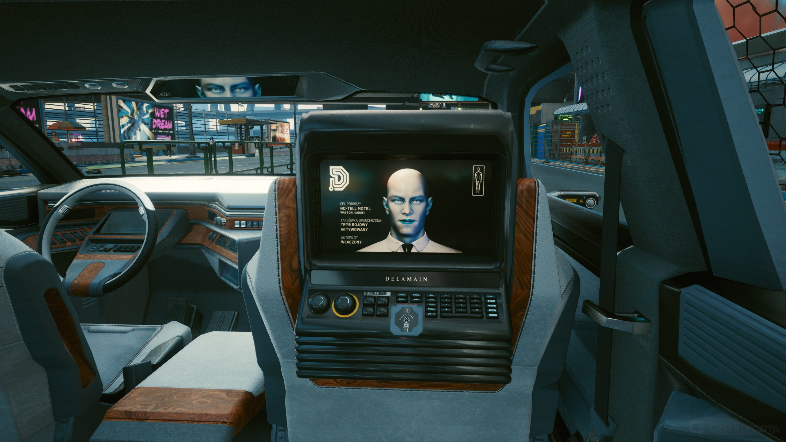 Taksówka Delamain - Cyberpunk 2077