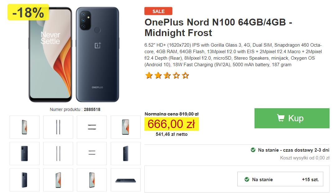 OnePlus Nord N100 w promocji