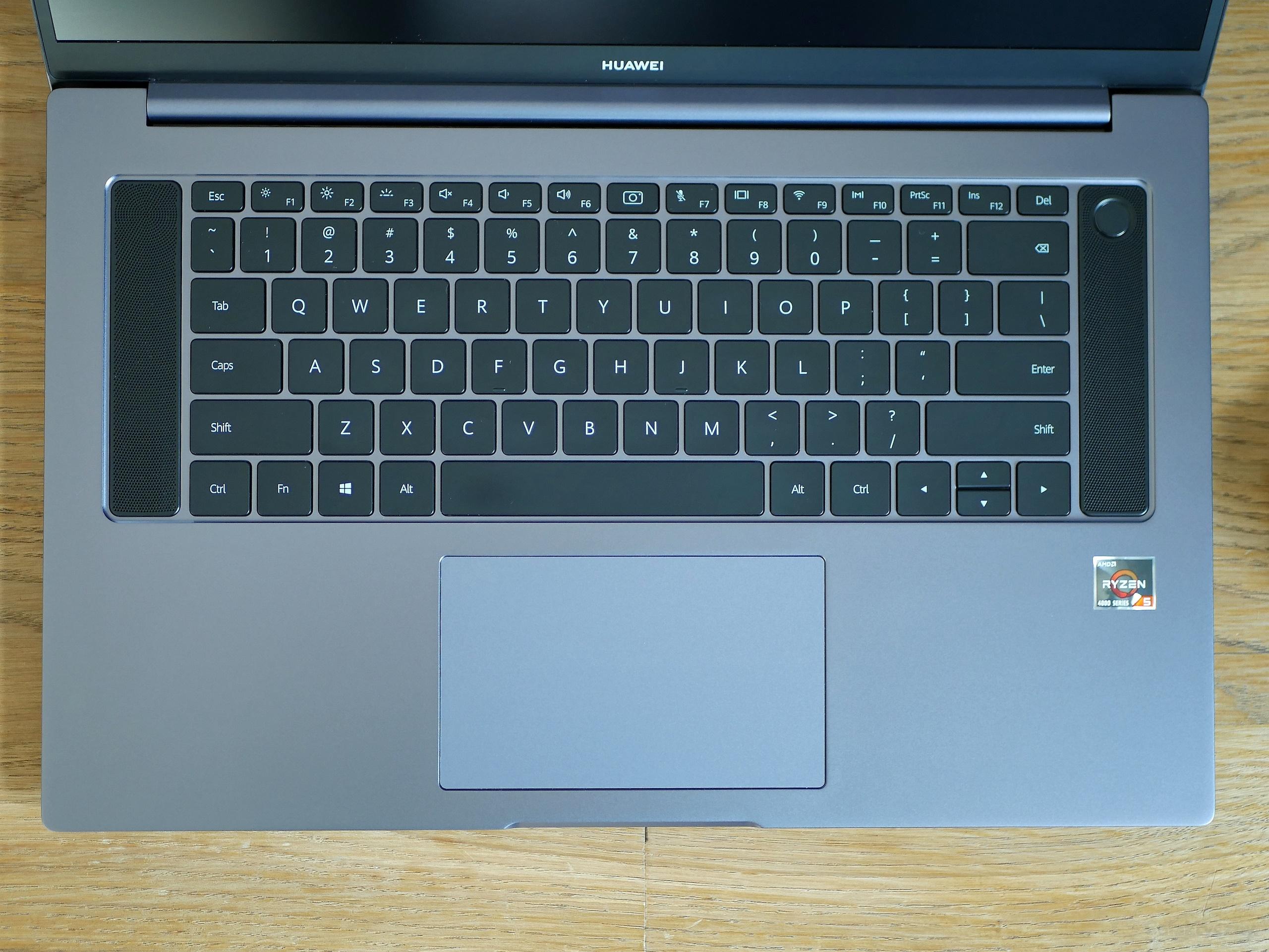Huawei MateBook D16 - klawiatura