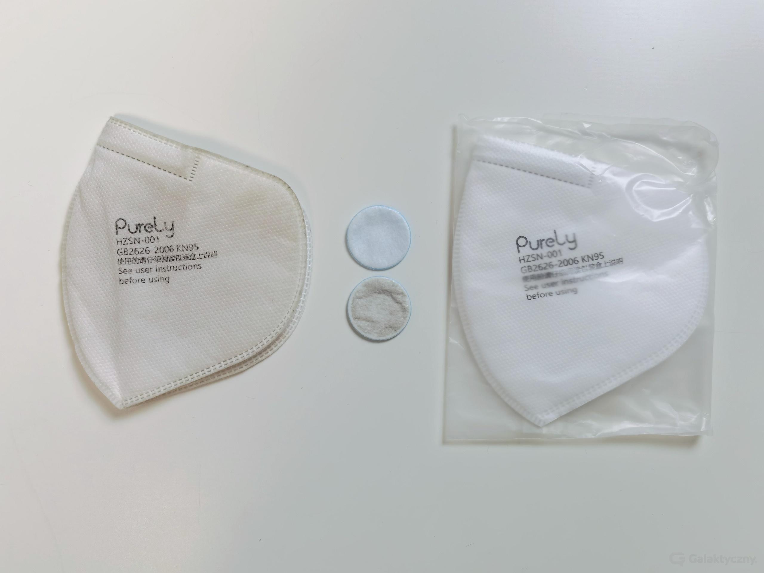 Maska Xiaomi Purely - filtry