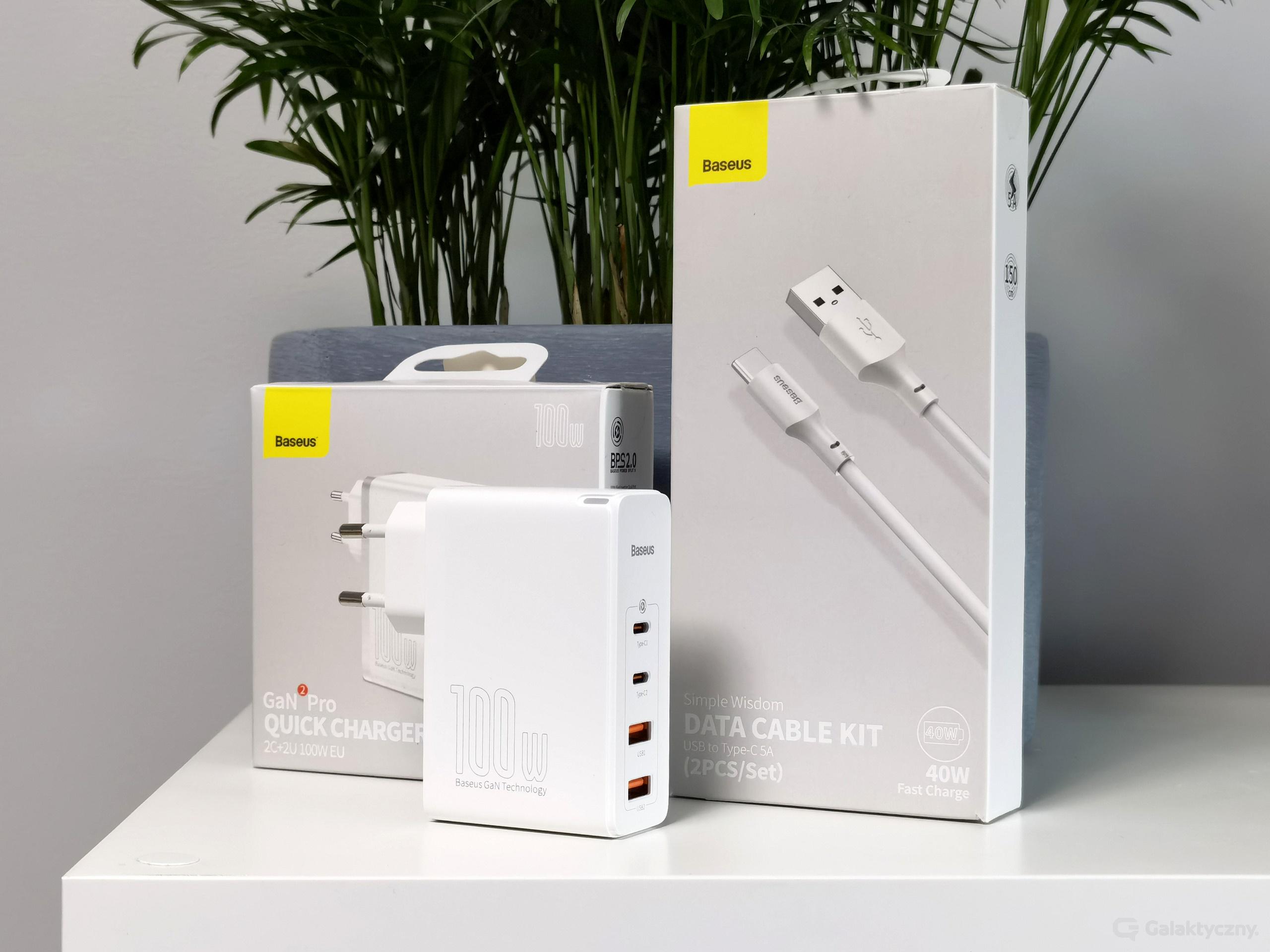 Baseus GaN2 Pro 100W i kable